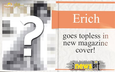 Erich goes topless in new magazine cover!