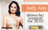 Judy Ann shows her 'weapon' for 2018!