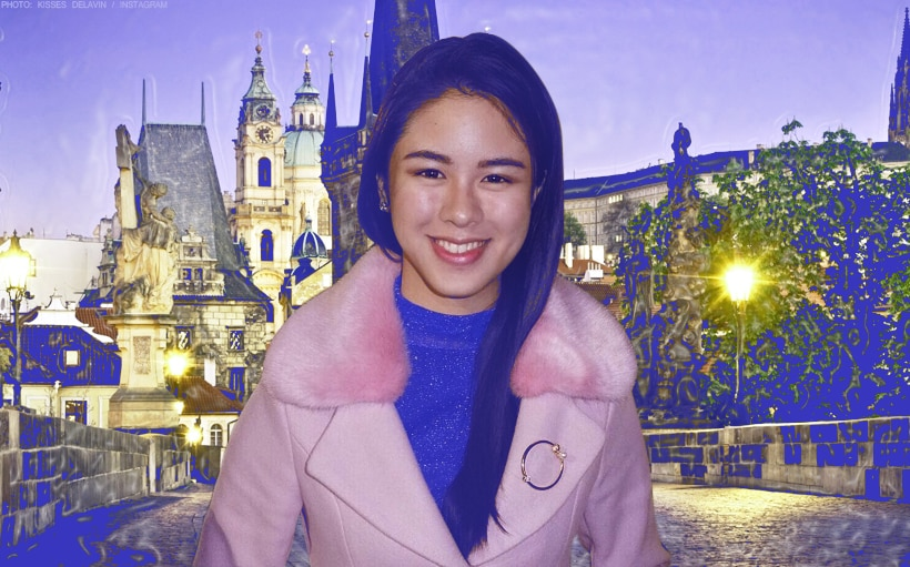 Kisses Delavin is a beauty in Prague!
