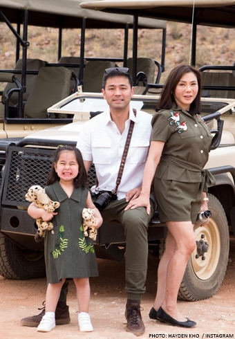 Dr. Vicky Belo and Dr. Hayden Kho took their adorable daughter Scarlet Snow on a family safari in Africa
