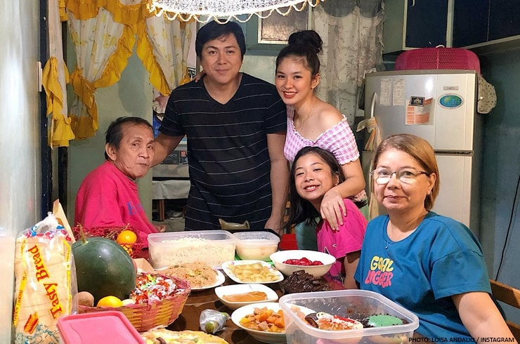 Loisa Andalio had a humble New Year's celebration with her family.