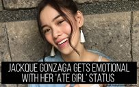 Jackque Gonzaga gets emotional with her 'Ate Girl' status
