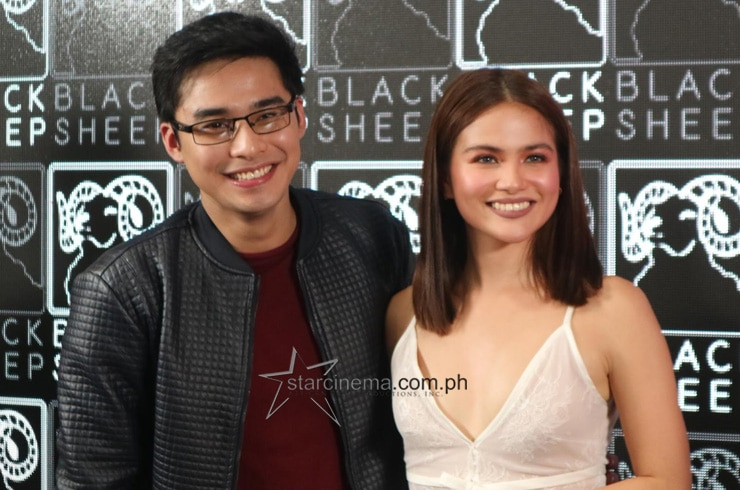 McCoy de Leon and Elisse Joson arrive for the Press Conference of their new film