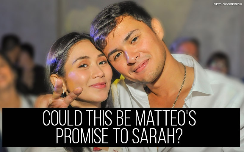 Could this be Matteo's promise to Sarah?