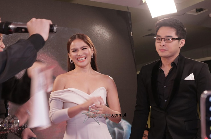 McLisse shares a laugh at the black carpet!