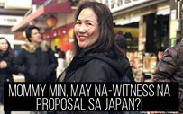 Mommy Min, may na-witness na proposal sa Japan?!