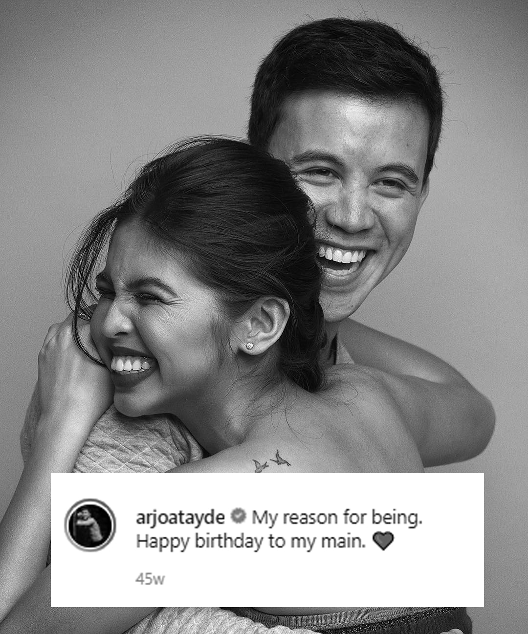 Arjo had a short but sweet birthday greeting for Maine!