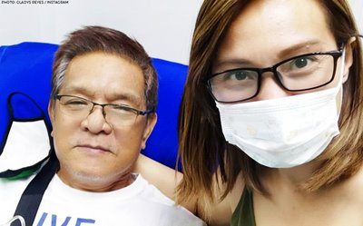 Gladys Reyes' father now in recovery after suffering from heart attack