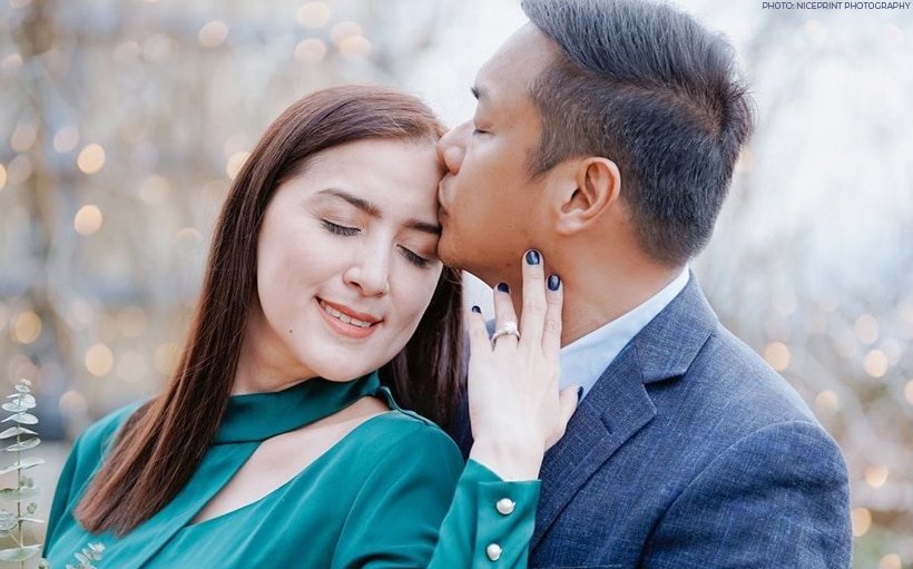 Here's a closer look at Ara Mina's engagement ring!