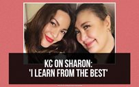 KC on Sharon: 'I learn from the best'
