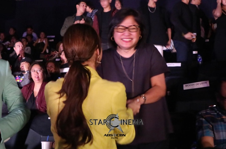 Inang Olivia Lamasan happily congratulated the cast after the movie