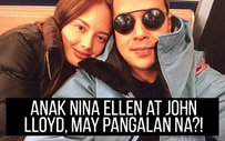 Anak nina Ellen at John Lloyd, may pangalan na?!