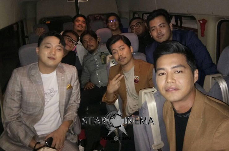 Team 'Kusina Kings' on their way to the premiere!