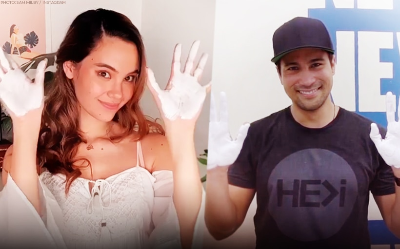 Sam Milby, Catriona Gray provide relief packs to families in Tondo
