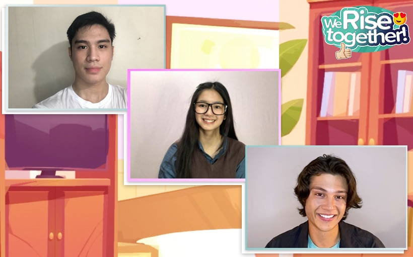 Kaori, Rhys + Jeremiah, excited to portray their roles for 'The Four Bad Boys and Me'!