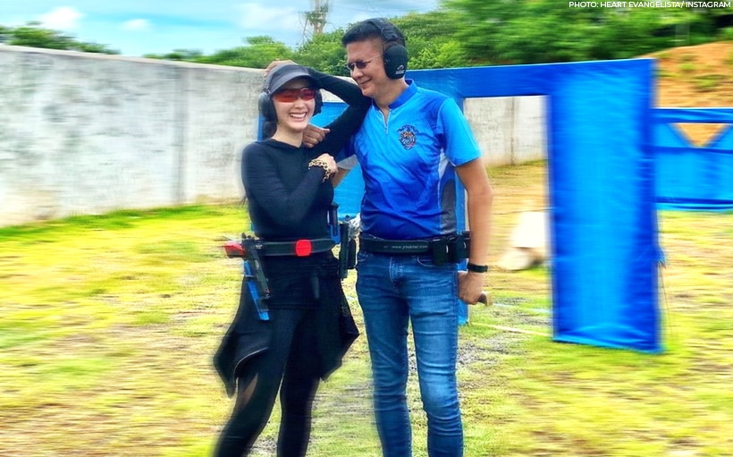 Heart and Chiz go on a gun range date!