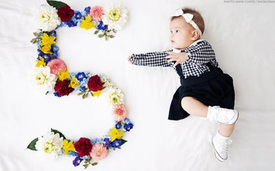Here's how Anne 'directed' Baby Dahlia for her adorable 5th month photoshoot!