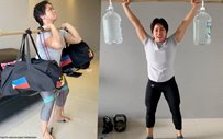 WATCH: Hidilyn Diaz's lockdown training shows her lifting makeshift weights