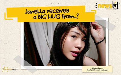 Janella receives a BIG HUG from...?