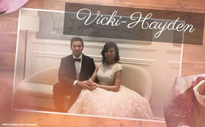 Vicki and Hayden are now married!