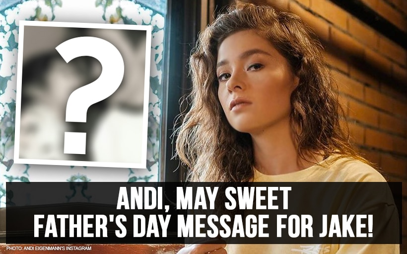 Andi, may sweet Father's Day message for Jake!