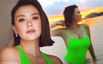 LOOK: Angelica Panganiban, kabogera in her neon swimsuit!