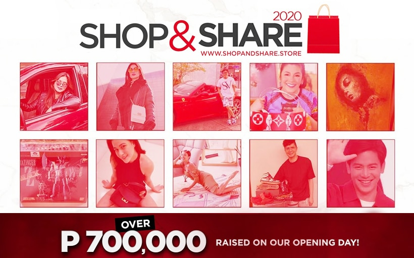 Angel Locsin raises over P700k on the first day of 'Shop & Share'