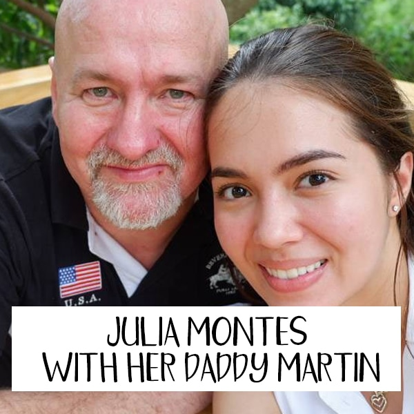Julia Montes with her Daddy Martin