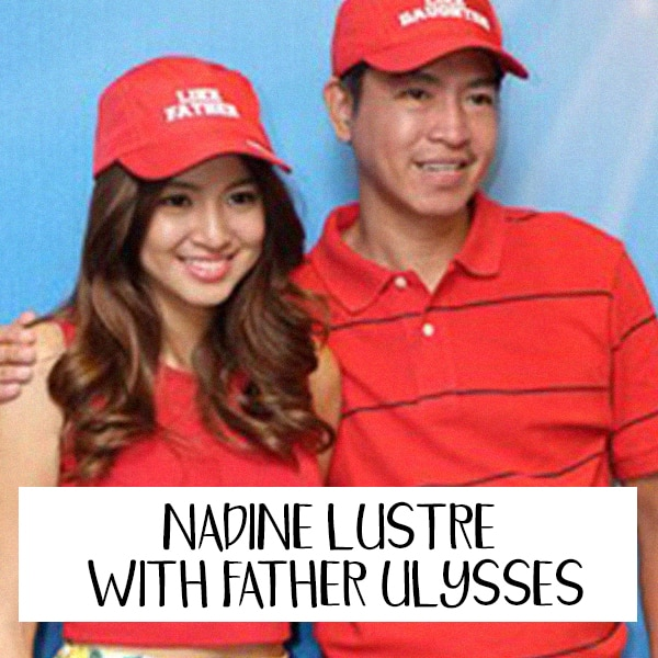 Nadine Lustre with father Ulysses