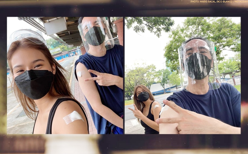 LOOK: Maris Racal, Rico Blanco get vaccinated together