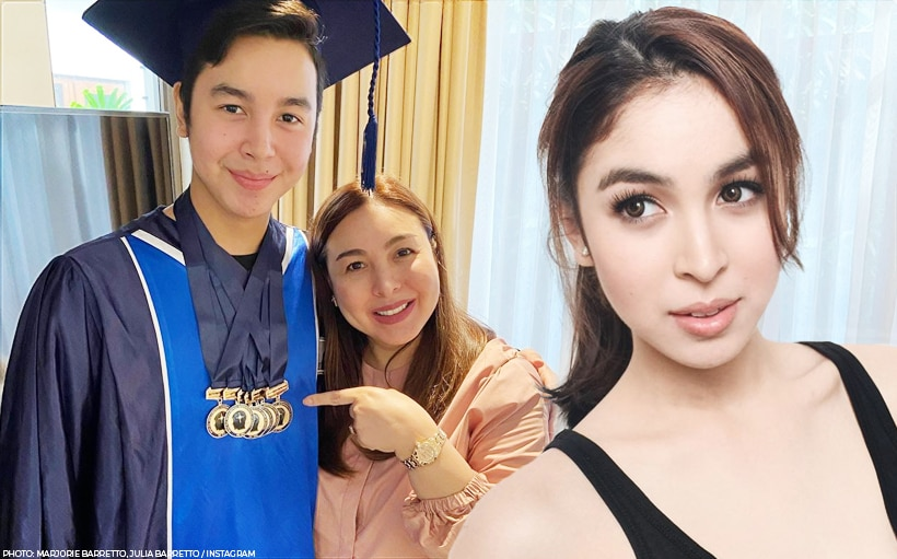Marjorie Barretto's son Leon finishes high school; thanks Julia for helping her send him to school