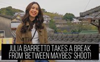 Julia Barretto takes a break from 'Between Maybes' shoot!