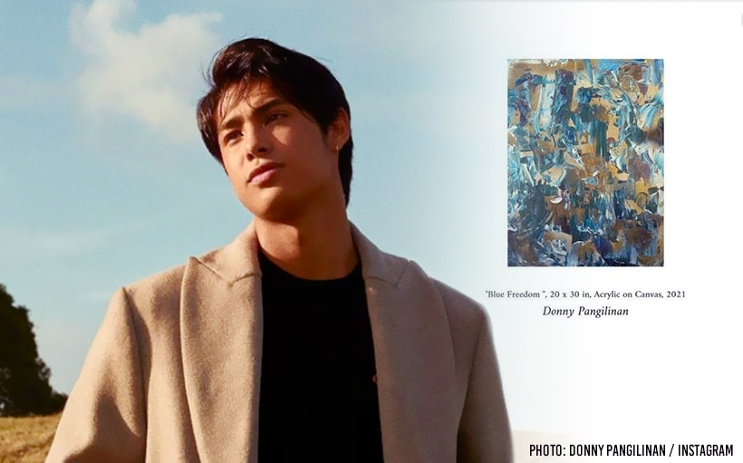 Donny Pangilinan's painting up for auction at Kulture Studio