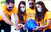 Julia Barretto shares photos with Gerald Anderson from their relief operation in Zambales