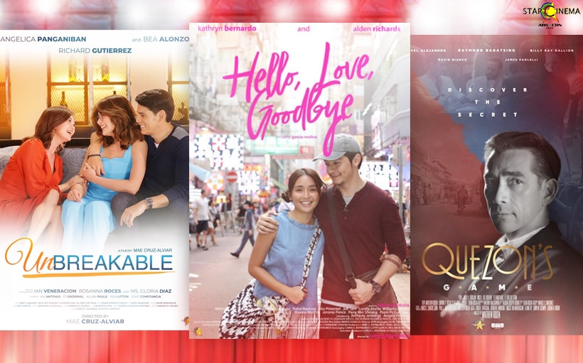 'Hello, Love, Goodbye,' 'Quezon's Game' + more Star Cinema films nominated at the 36th PMPC Star Awards For Movies