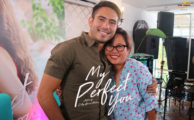 Direk Cathy, Gerald, and Dimples at 'My Perfect You' blogcon