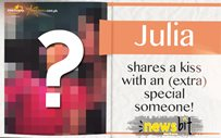 Julia shares a kiss with an (extra) special someone!