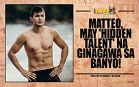 Matteo, may 'hidden talent' na ginagawa sa banyo!