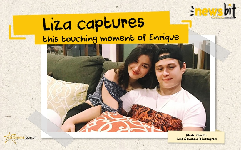 Liza captures this touching moment of Enrique