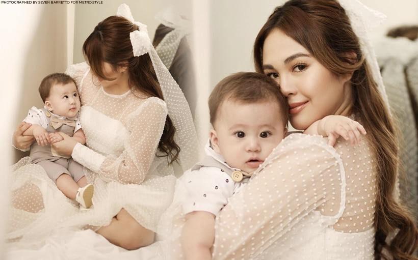 Baby Jude joins his mom Janella Salvador in a magazine shoot!