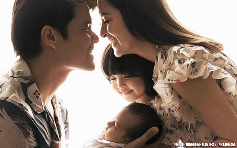 LOOK: The Dantes' share their first complete family photo with Baby Sixto!