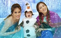 Toni, Alex, and Seve are 'Frozen' for Halloween!