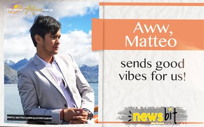 Aww, Matteo sends good vibes for us!