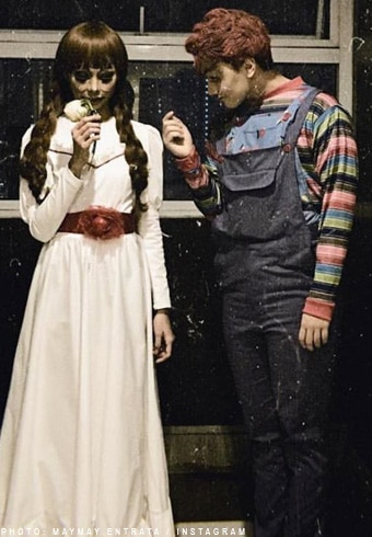 """Maymay Entrata as Annabelle and Edward Barber as Chucky from """"Child's Play"""""""