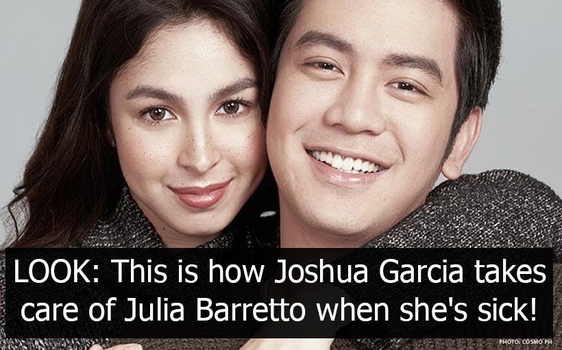 LOOK: This is how Joshua Garcia takes care of Julia Barretto when she's sick!