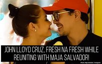John Lloyd Cruz, fresh na fresh while reuniting with Maja Salvador!