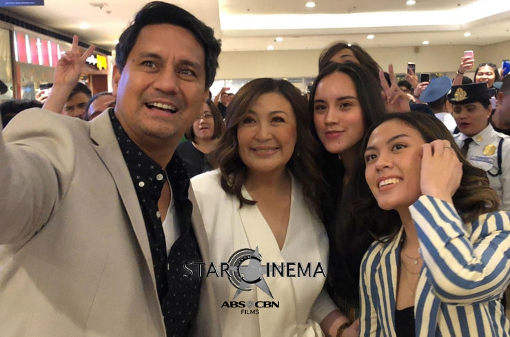 Richard Gomez and the Megastar with the Royal Daughters: Juliana Gomez and Frankie Pangilinan!