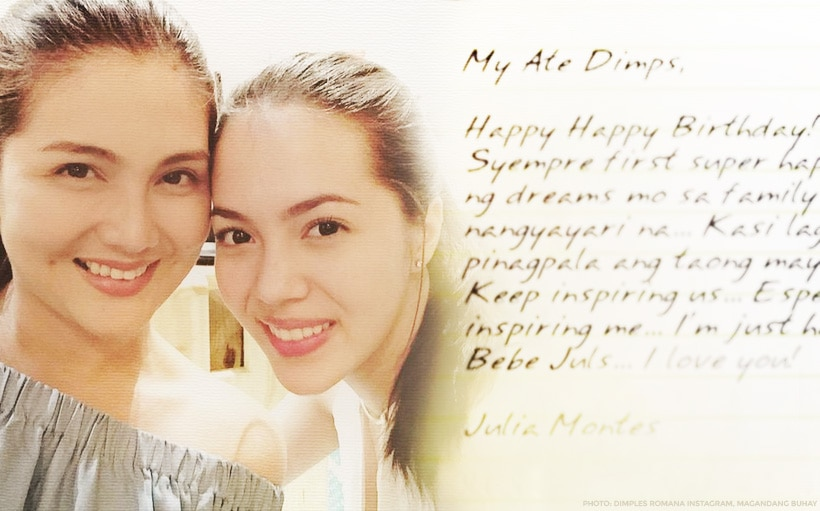 Julia Montes pens touching birthday message for Dimples Romana: 'I miss you!'