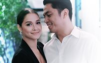 Maja Salvador joins Rambo Nunez' family at the launch of a new business