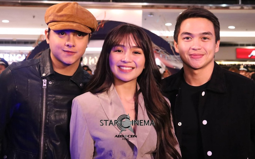 Kathryn Bernardo and Daniel Padilla with Dominic Roque